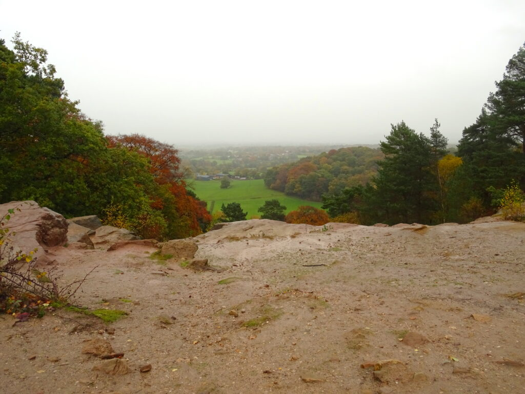 Stormy Point Looking Over The Cheshire Plains In The Mist
