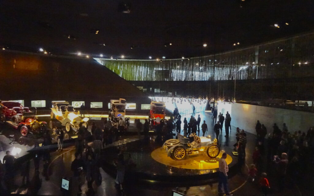 View Of Mercedes-Benz Cars In Te Museum