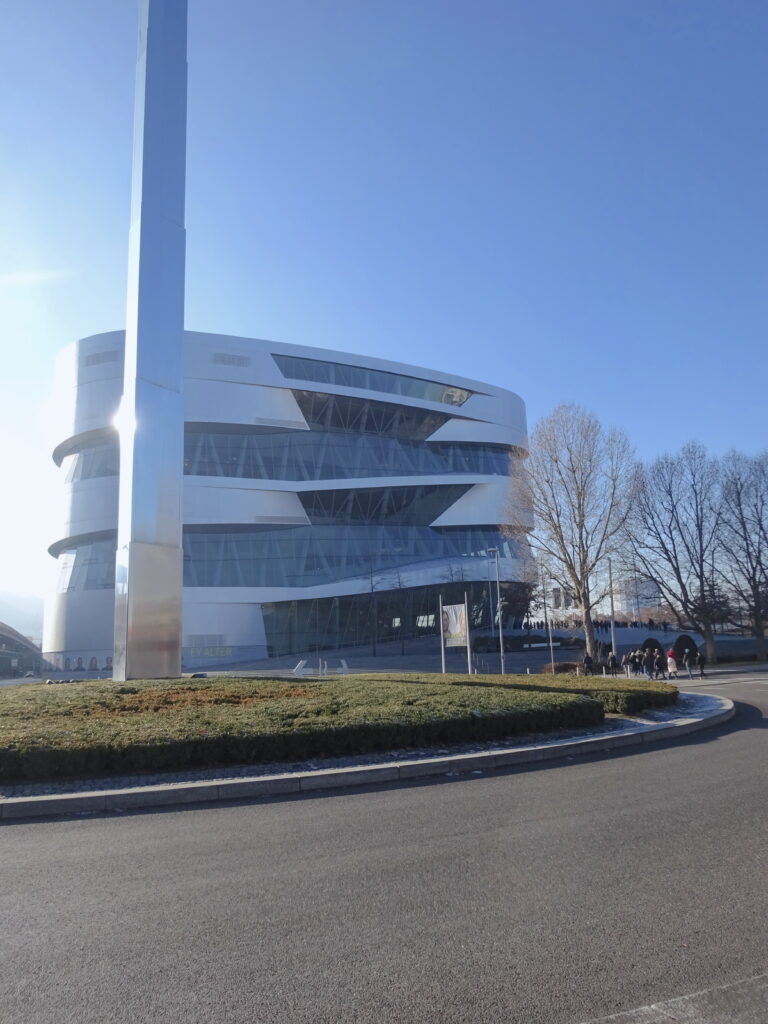 The Futuristic Building Of The Mercedes-Benz Museum