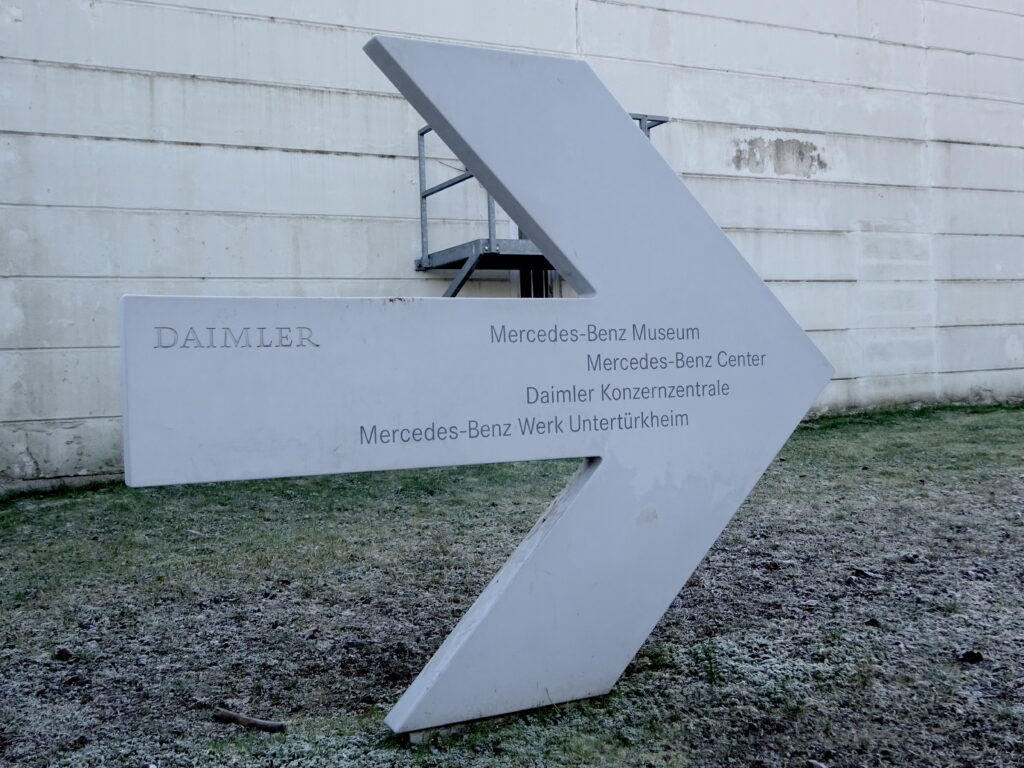 Large Arrow With Directions To The Mercedes-Benz Museum