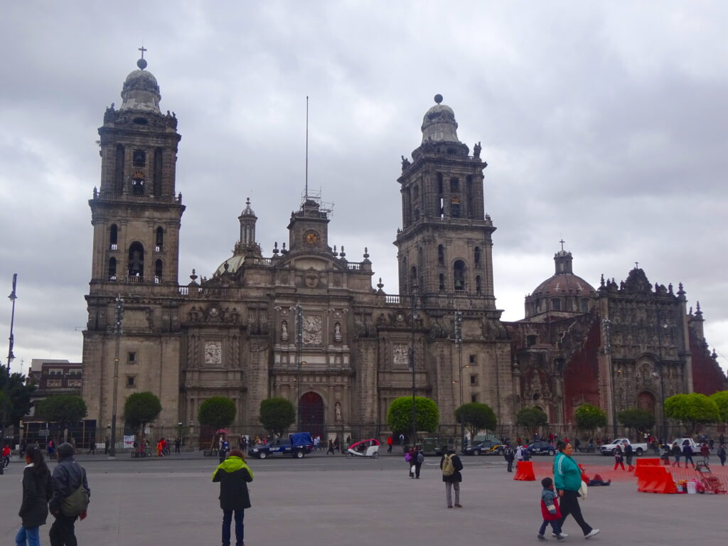 Cathedral At Mexico City Zocalo