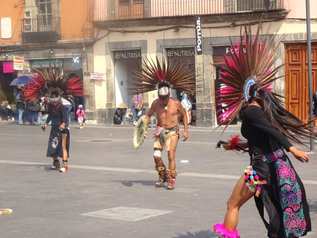 Aztec Dancers At The Zocalo In Mexico City