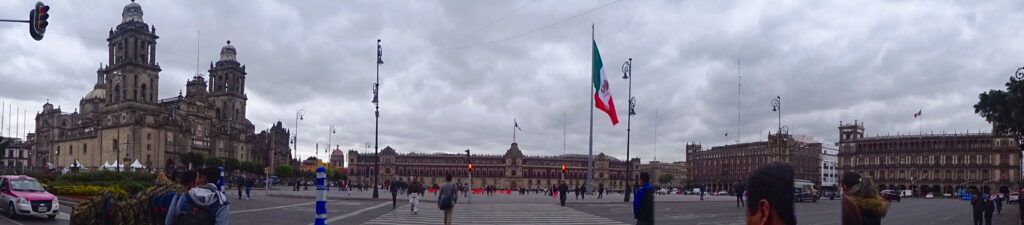 Panoramic Of The Zocalo At Mexico City