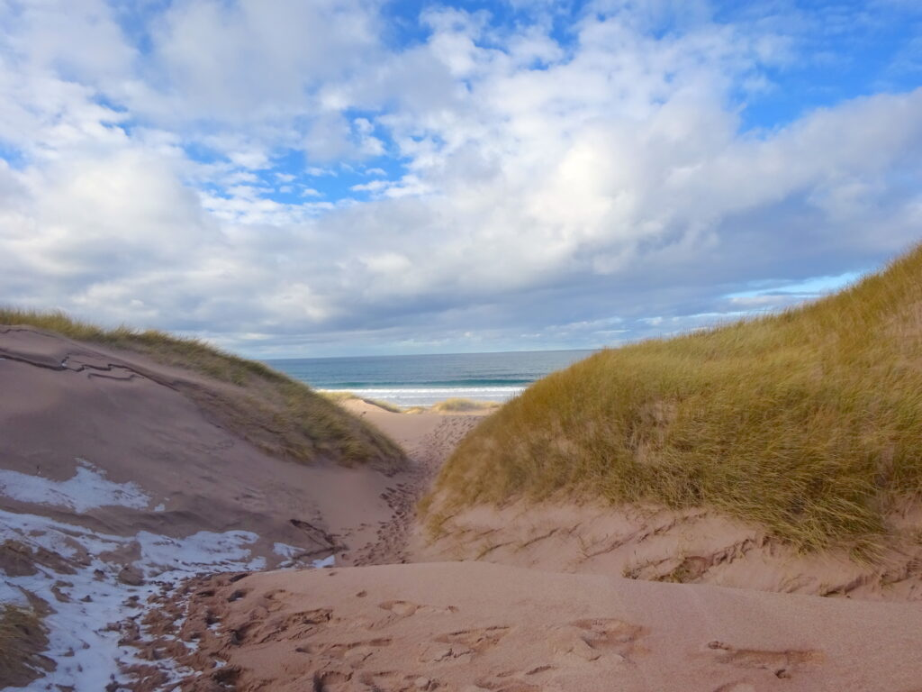 View Of Sea From Sand Dunes