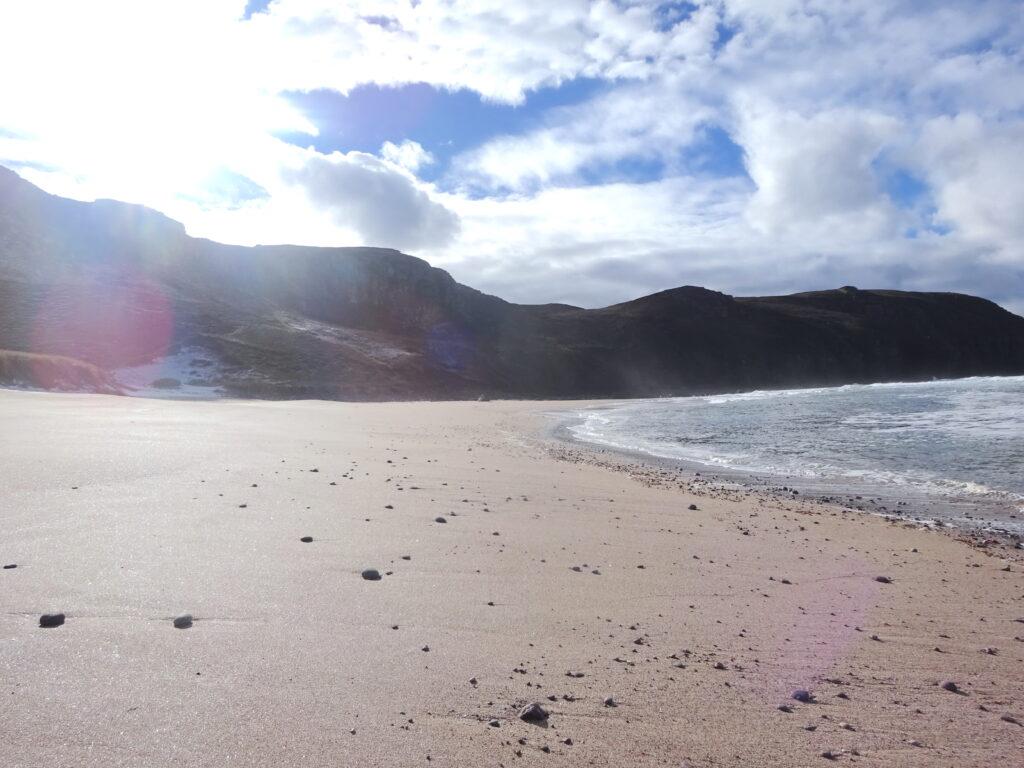 Cliffs Surrounding Beach And Sea